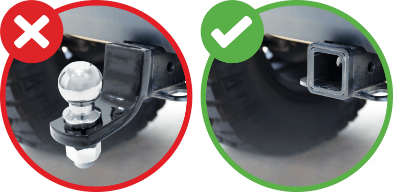 Graphic showing preferable hitch removal